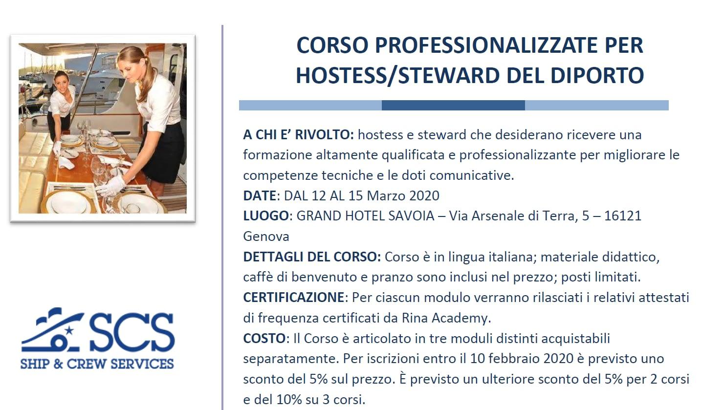 Corso - Hostess_Steward del Diporto