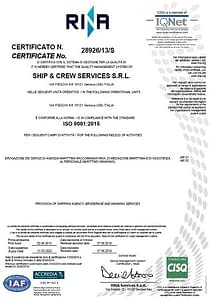 SCS Yachting _ISO-9001-2015_quality certification