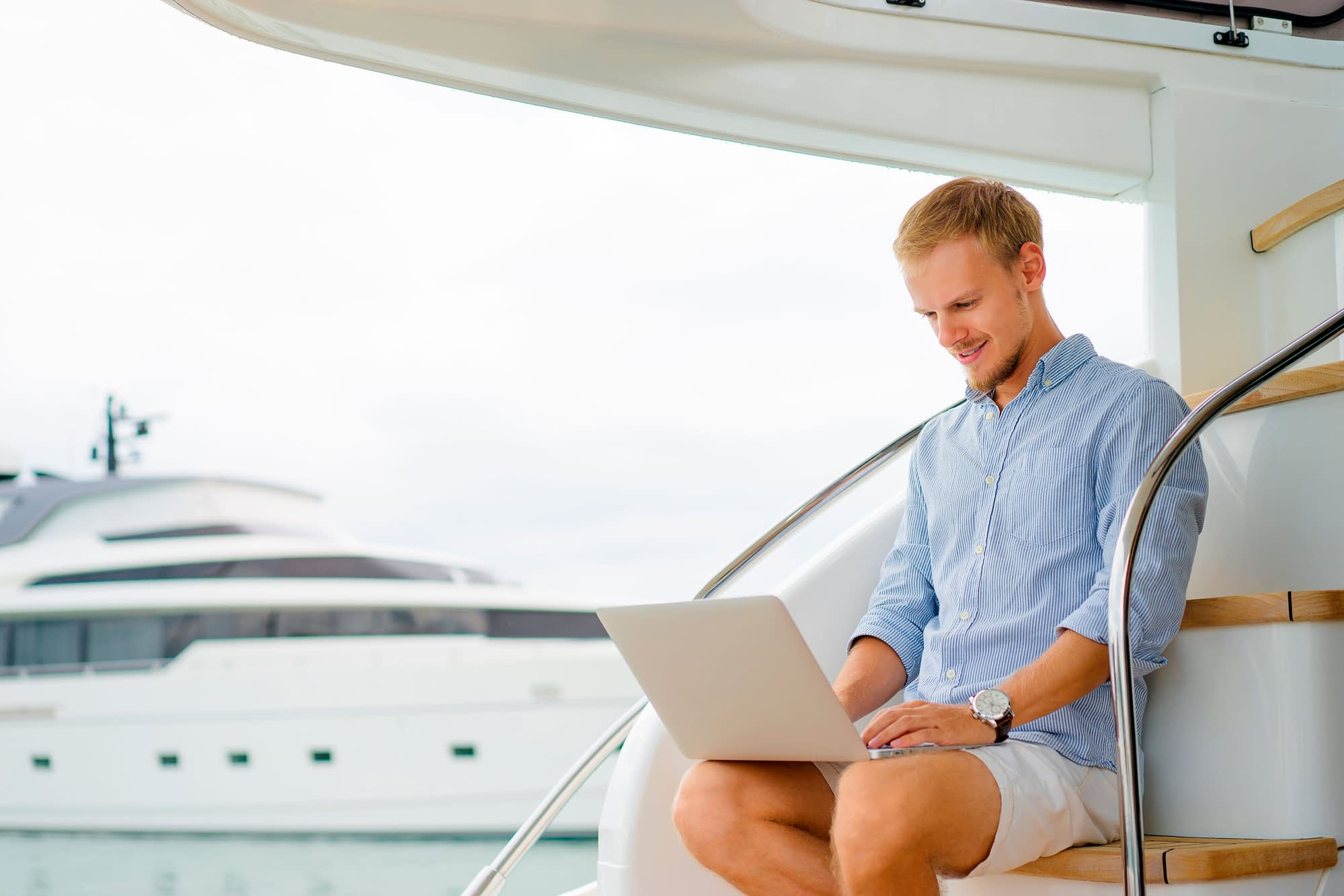 Staying connected and keeping in touch on board by SCS Yachting